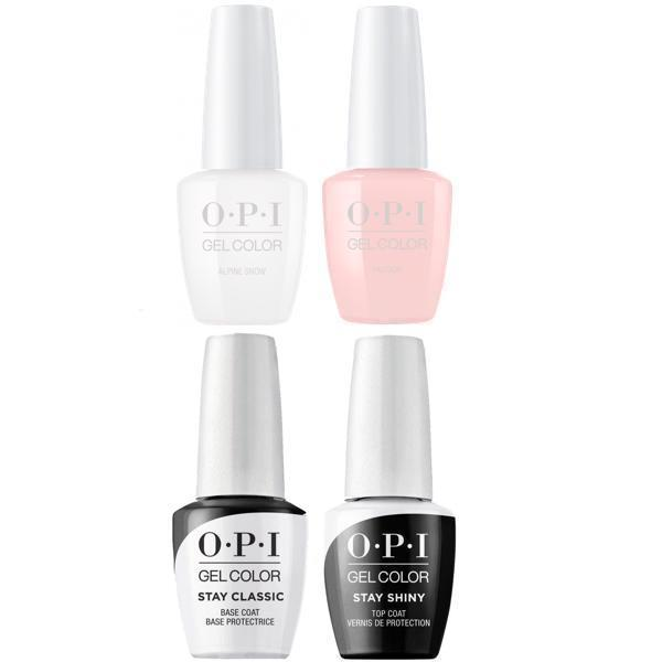 Opi Gelcolor French Manicure Alpine Snow Passion Base Top