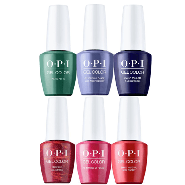 OPI GelColor Hollywood Spring 2021 Collection Kit #2 Set Of 6-Gel Nail Polish-Universal Nail Supplies