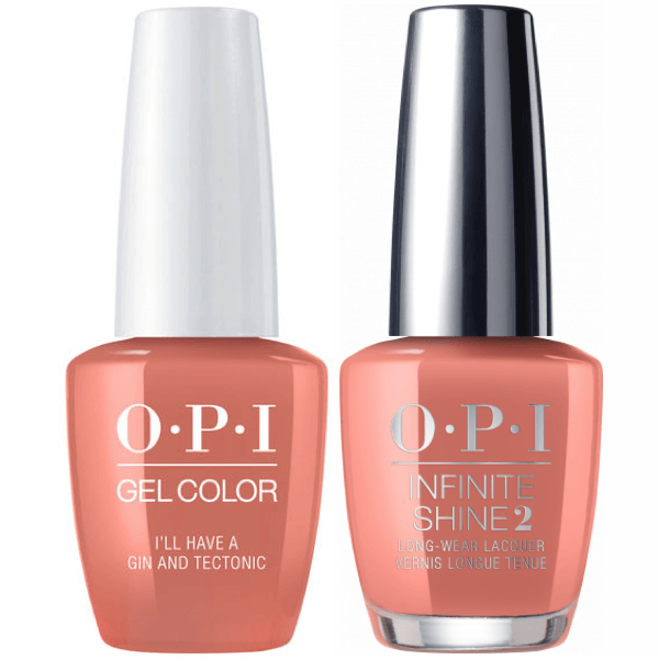 OPI GelColor I'll Have A Gin & Tectonic #I61 + Infinite Shine #I61-Gel Nail Polish + Lacquer-Universal Nail Supplies
