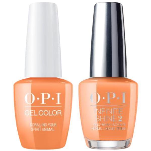 OPI GelColor + Infinite Shine Coral-ing Your Spirit Animal #M88-Gel Nail Polish + Lacquer-Universal Nail Supplies