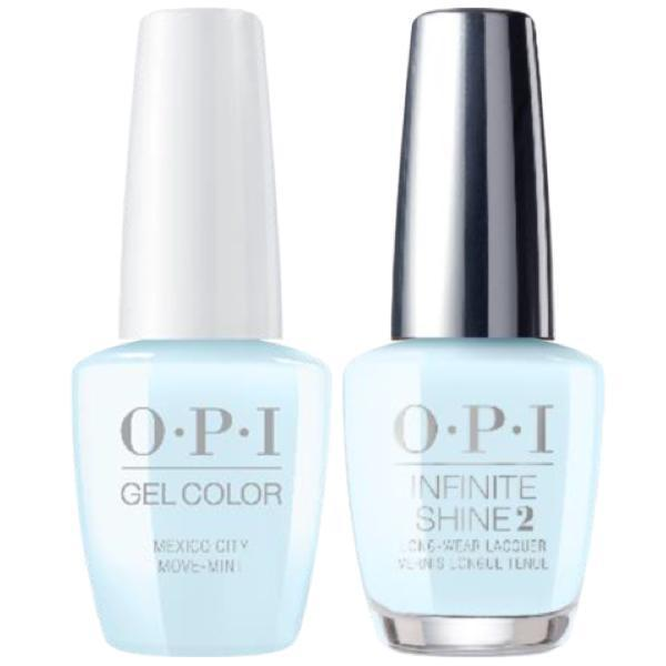 OPI GelColor + Infinite Shine Mexico City Move-Mint #M83-Gel Nail Polish + Lacquer-Universal Nail Supplies