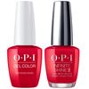 OPI GelColor + Infinite Shine Red Heads Ahead #U13-Gel Nail Polish + Lacquer-Universal Nail Supplies