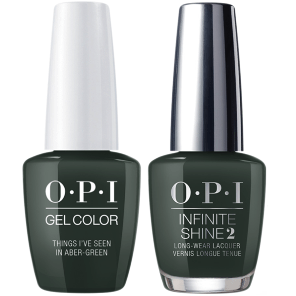 OPI GelColor + Infinite Shine Things I've Seen In Aber-Green #U15-Gel Nail Polish + Lacquer-Universal Nail Supplies