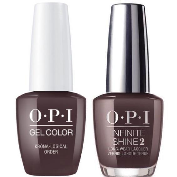 OPI GelColor Krona-Logical Order #I55 + Infinite Shine #I55-Gel Nail Polish + Lacquer-Universal Nail Supplies