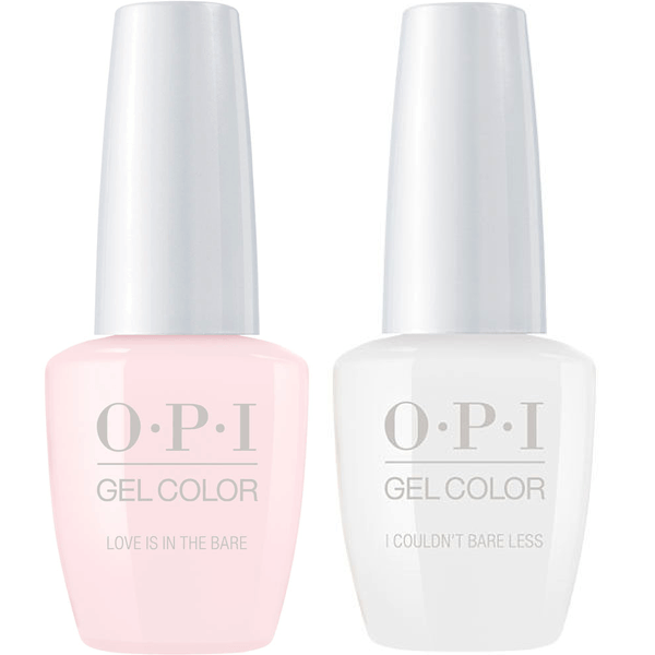OPI GelColor Love Is In The Bare + I Couldn't Bare Less!-Gel Nail Polish-Universal Nail Supplies