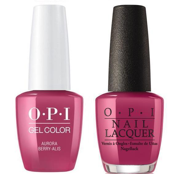 OPI GelColor + Matching Lacquer Aurora Berry-Alis #I64-Gel Nail Polish + Lacquer-Universal Nail Supplies