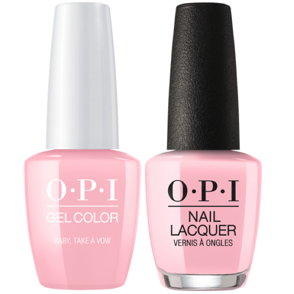OPI GelColor + Matching Lacquer Baby, Take A Vow #SH1-Gel Nail Polish + Lacquer-Universal Nail Supplies