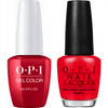 OPI GelColor + Matching Lacquer Big Apple Red #N25-Gel Nail Polish + Lacquer-Universal Nail Supplies