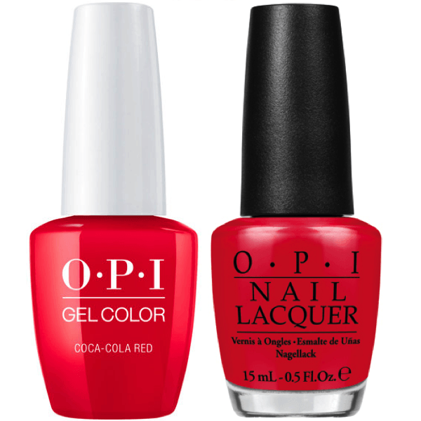 OPI GelColor + Matching Lacquer Coca-Cola Red #C13-Gel Nail Polish + Lacquer-Universal Nail Supplies