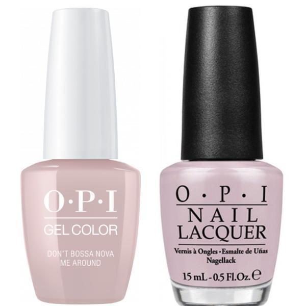 OPI GelColor + Matching Lacquer Don't Bossa Nova Me Around #A60-Gel Nail Polish + Lacquer-Universal Nail Supplies