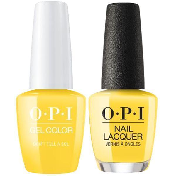 OPI GelColor + Matching Lacquer Don't Tell A Sol #M85-Gel Nail Polish + Lacquer-Universal Nail Supplies