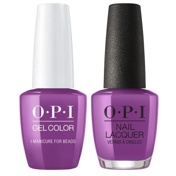 OPI GelColor + Matching Lacquer I Manicure For Beads #N54-Gel Nail Polish + Lacquer-Universal Nail Supplies