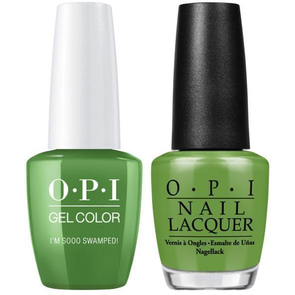 OPI GelColor + Matching Lacquer I'm Sooo Swamped! #N60-Gel Nail Polish + Lacquer-Universal Nail Supplies