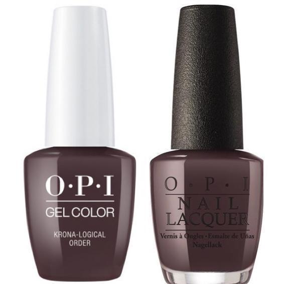 OPI GelColor + Matching Lacquer Krona-Logical Order #I55-Gel Nail Polish + Lacquer-Universal Nail Supplies