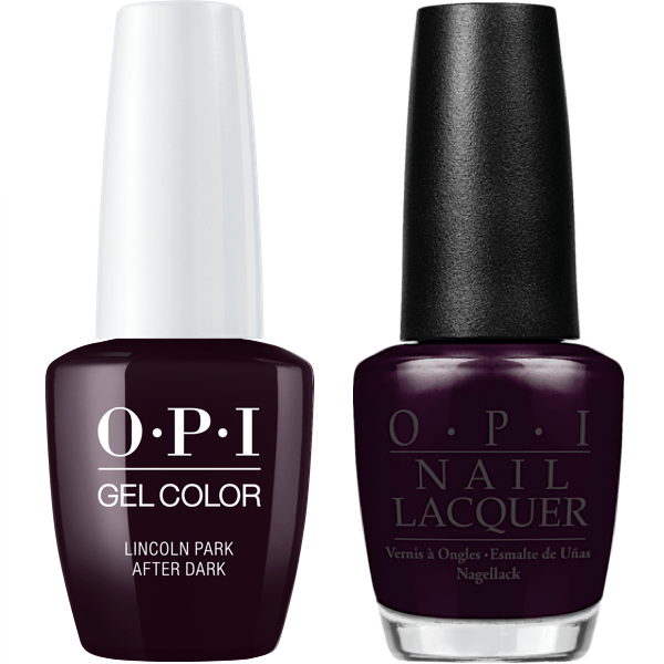 OPI GelColor + Matching Lacquer Lincoln Park After Dark #W42-Gel Nail Polish + Lacquer-Universal Nail Supplies
