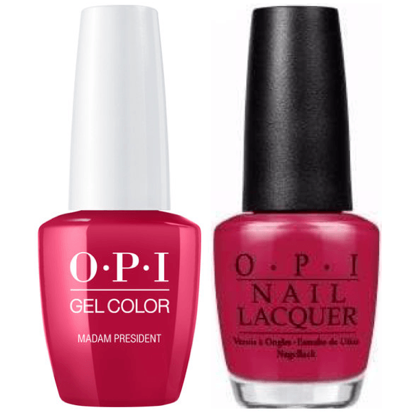 OPI GelColor + Matching Lacquer Madam President #W62-Gel Nail Polish + Lacquer-Universal Nail Supplies