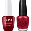 OPI GelColor + Matching Lacquer Malaga Wine #L87-Gel Nail Polish + Lacquer-Universal Nail Supplies