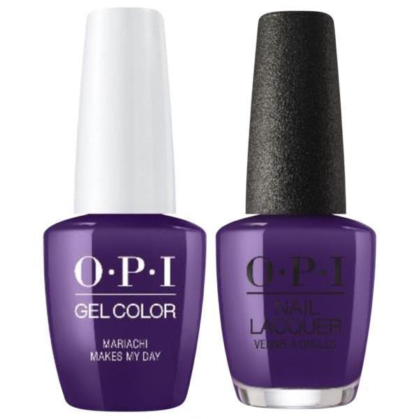 OPI GelColor + Matching Lacquer Mariachi Makes My Day #M93-Gel Nail Polish + Lacquer-Universal Nail Supplies