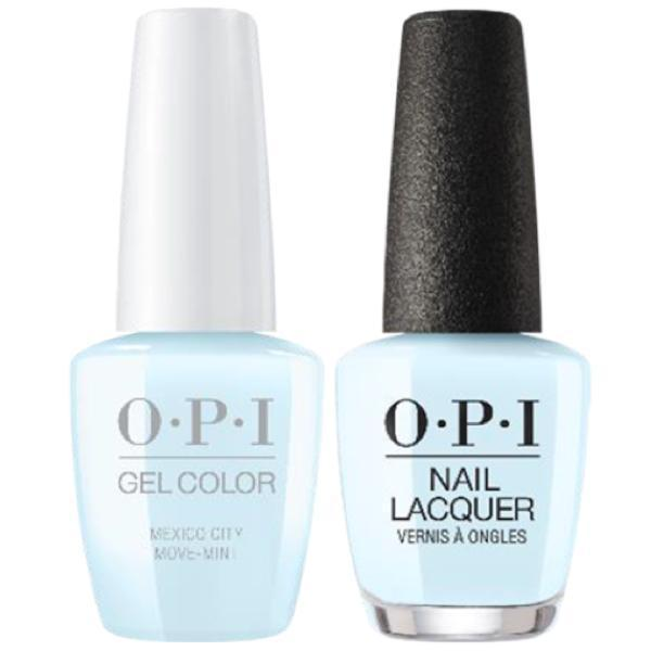 OPI GelColor + Matching Lacquer Mexico City Move-Mint #M83-Gel Nail Polish + Lacquer-Universal Nail Supplies