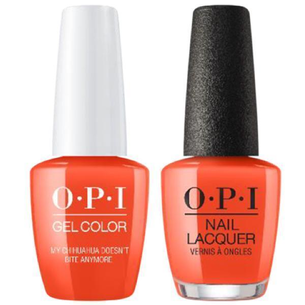 OPI GelColor + Matching Lacquer My Chihuahua Doesn't Bite Anymore #M89-Gel Nail Polish + Lacquer-Universal Nail Supplies