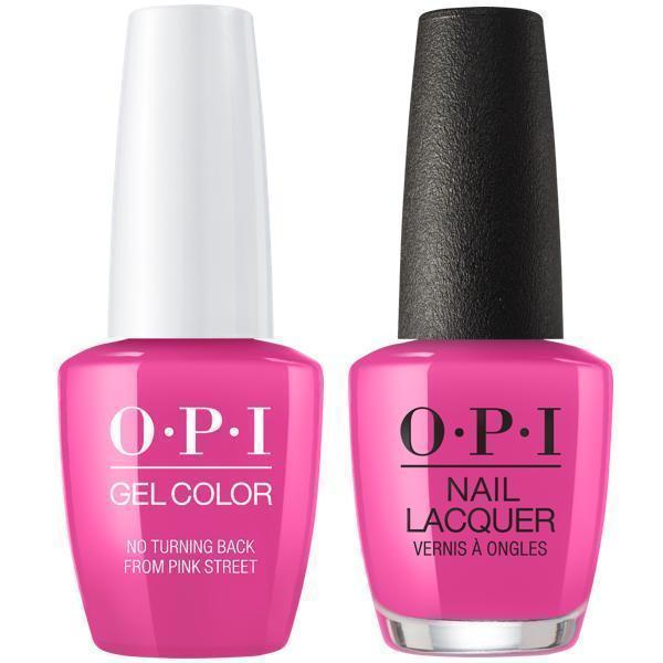 Laura Lacquer Nail Polish: OPI GelColor + Matching Lacquer No Turning Back From Pink