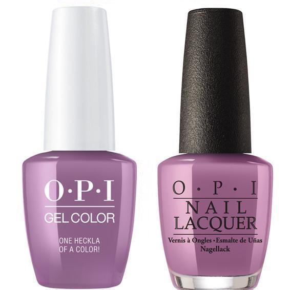 OPI GelColor + Matching Lacquer One Heckla of a Color #I62-Gel Nail Polish + Lacquer-Universal Nail Supplies