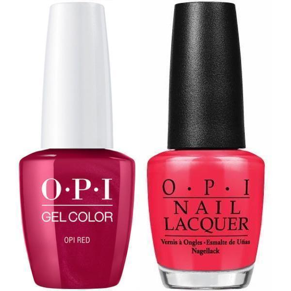 OPI GelColor + Matching Lacquer OPI Red #L72-Gel Nail Polish + Lacquer-Universal Nail Supplies