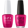 OPI GelColor + Matching Lacquer Pink Flamenco #E44-Gel Nail Polish + Lacquer-Universal Nail Supplies