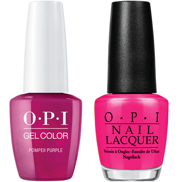 Opi Gelcolor Matching Lacquer Pompeii Purple C09 Universal Nail Supplies