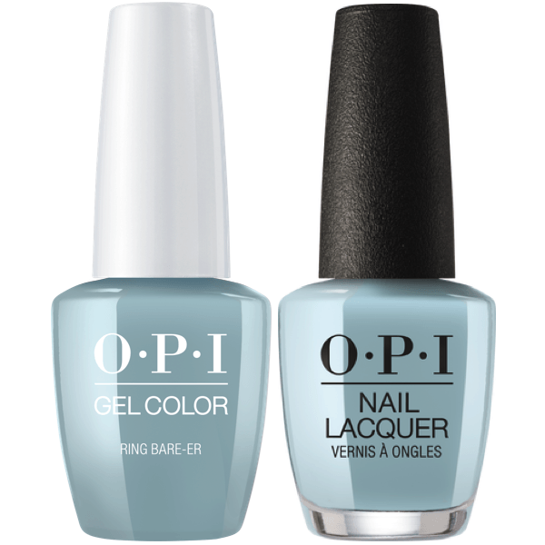 OPI GelColor + Matching Lacquer Ring Bare-Er #SH6-Gel Nail Polish + Lacquer-Universal Nail Supplies