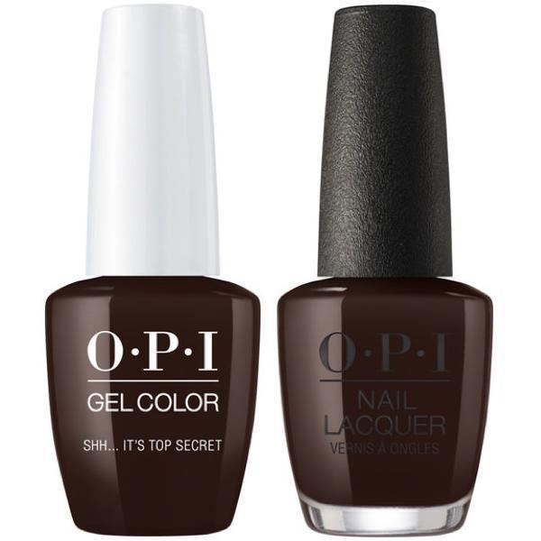 OPI GelColor + Matching Lacquer Sh...It's Top Secret #W61-Gel Nail Polish + Lacquer-Universal Nail Supplies