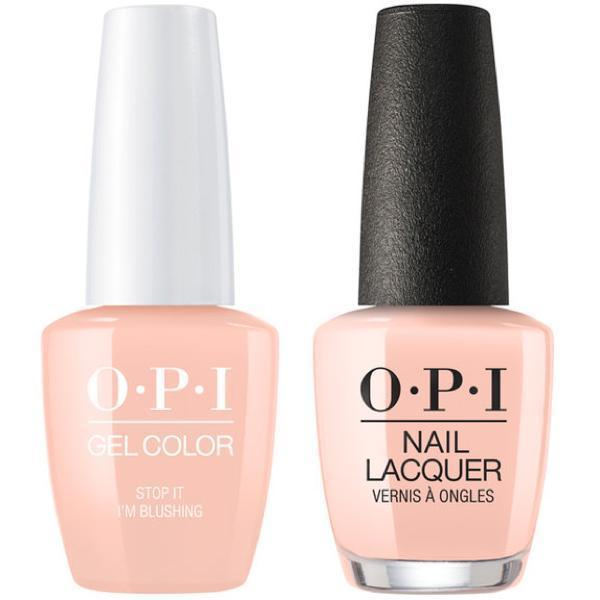 OPI GelColor + Matching Lacquer Stop It I'm Blushing #T74-Gel Nail Polish + Lacquer-Universal Nail Supplies