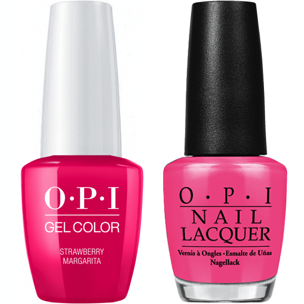 OPI GelColor + Matching Lacquer Strawberry Margarita #M23-Gel Nail Polish + Lacquer-Universal Nail Supplies