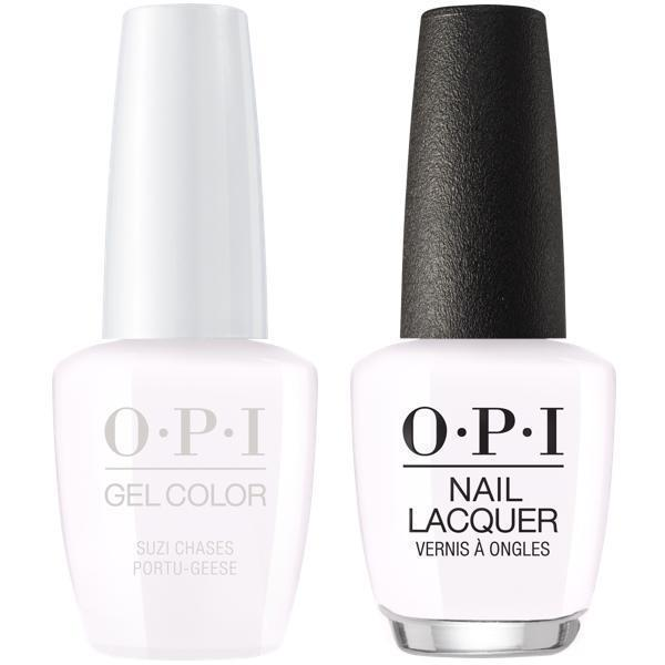OPI GelColor + Matching Lacquer Suzi Chases Portu-Geese #L26-Gel Nail Polish + Lacquer-Universal Nail Supplies
