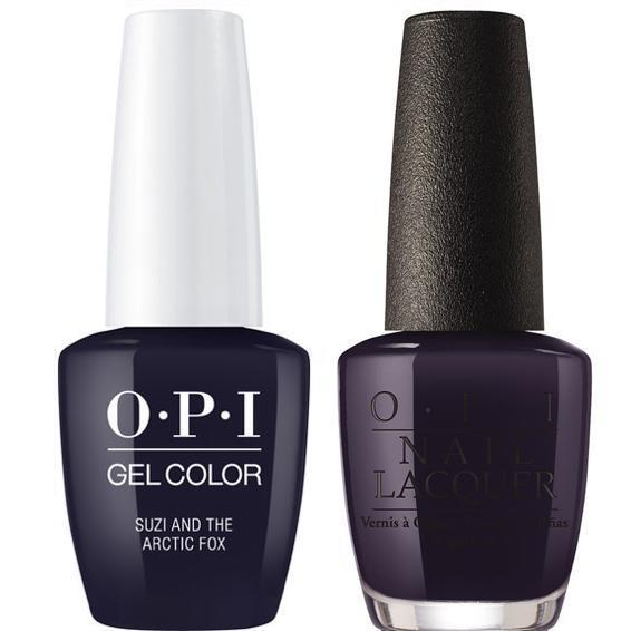 OPI GelColor + Matching Lacquer Suzi & the Arctic Fox #I56-Gel Nail Polish + Lacquer-Universal Nail Supplies