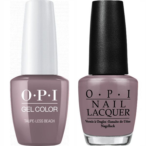 OPI GelColor + Matching Lacquer Taupe-Less Beach #A61-Gel Nail Polish + Lacquer-Universal Nail Supplies