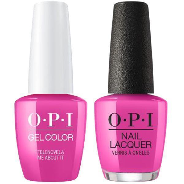 OPI GelColor + Matching Lacquer Telenovela Me About It #M91-Gel Nail Polish + Lacquer-Universal Nail Supplies