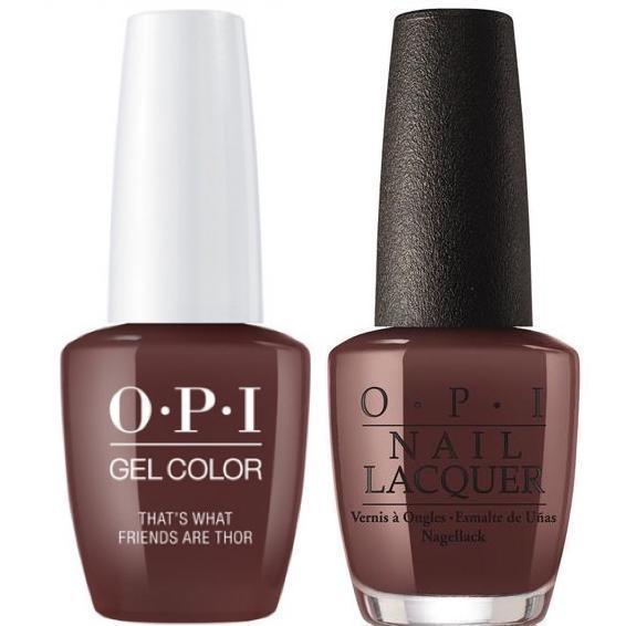 OPI GelColor + Matching Lacquer That's What Friends Are Thor #I54-Gel Nail Polish + Lacquer-Universal Nail Supplies