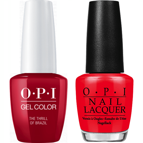 OPI GelColor + Matching Lacquer The Thrill Of Brazil #A16-Gel Nail Polish + Lacquer-Universal Nail Supplies
