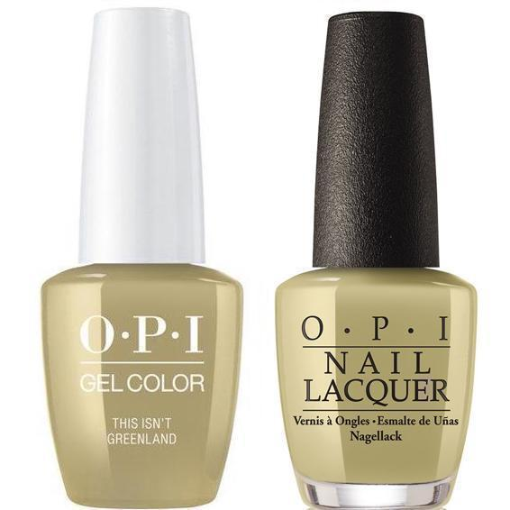 OPI GelColor + Matching Lacquer This Isn't Greenland #I58-Gel Nail Polish + Lacquer-Universal Nail Supplies