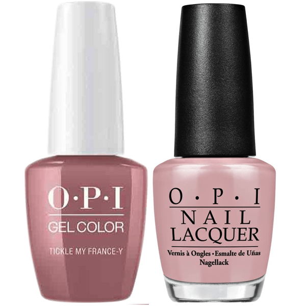 OPI GelColor + Matching Lacquer Tickle My France-y #F16-Gel Nail Polish + Lacquer-Universal Nail Supplies
