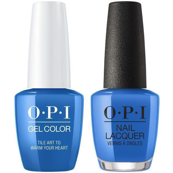OPI GelColor + Matching Lacquer Tile Art To Warm Your Heart #L25-Gel Nail Polish + Lacquer-Universal Nail Supplies