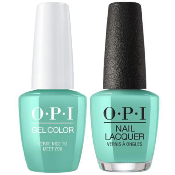 OPI GelColor + Matching Lacquer Verde Nice To Meet You #M84-Gel Nail Polish + Lacquer-Universal Nail Supplies