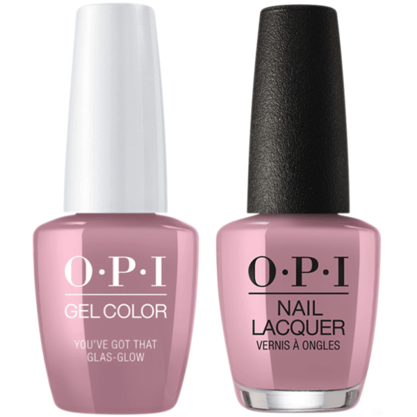 OPI GelColor + Matching Lacquer You've Got That Glas-Glow #U22-Gel Nail Polish + Lacquer-Universal Nail Supplies