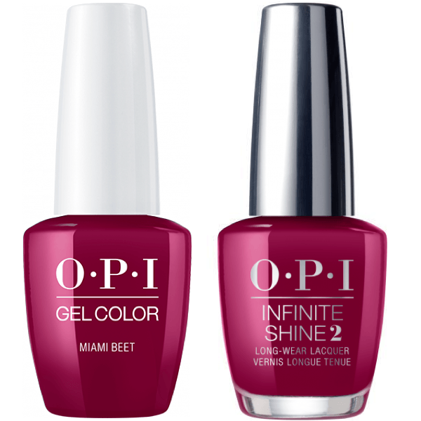 OPI GelColor Miami Beet #B78 + Infinite Shine #B78-Gel Nail Polish + Lacquer-Universal Nail Supplies