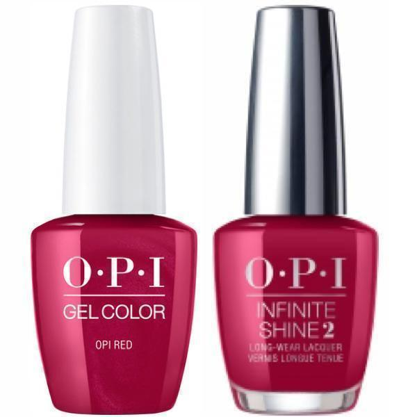 OPI GelColor OPI Red #L72 + Infinite Shine #L72-Gel Nail Polish + Lacquer-Universal Nail Supplies