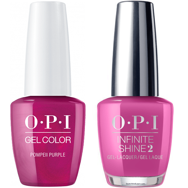 OPI GelColor Pompeii Purple #C09 + Infinite Shine #C09-Gel Nail Polish + Lacquer-Universal Nail Supplies