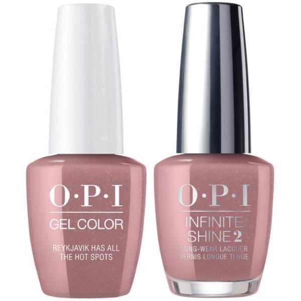 OPI GelColor Reykjavik Has All the Hot Spots #I63 + Infinite Shine #I63-Gel Nail Polish + Lacquer-Universal Nail Supplies