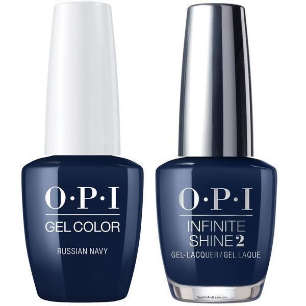 OPI GelColor Russian Navy #R54 + Infinite Shine #R54-Gel Nail Polish + Lacquer-Universal Nail Supplies