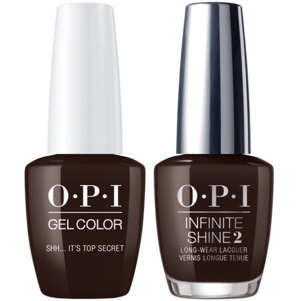 OPI GelColor Shh... It's Top Secret! #W61 + Infinite Shine #W61-Gel Nail Polish + Lacquer-Universal Nail Supplies